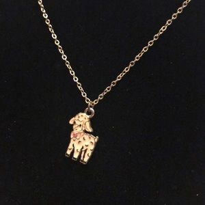 Gold chain Lamb Pendant Necklace